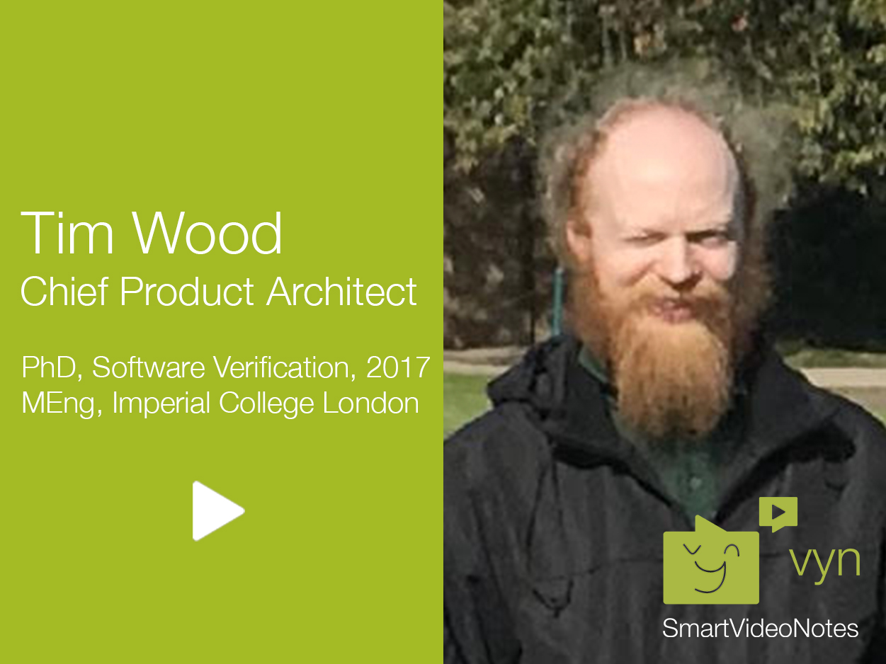 Tim Wood, Chief Product Architect for vyn